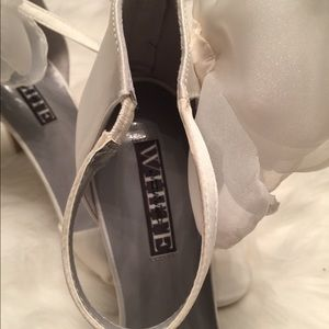 441f8195d47 White by Vera Wang Shoes - Twisted Satin Peep Toe with Chiffon